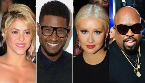 Shakira y Usher reemplazarán a Christina Aguilera y Cee Lo en The Voice