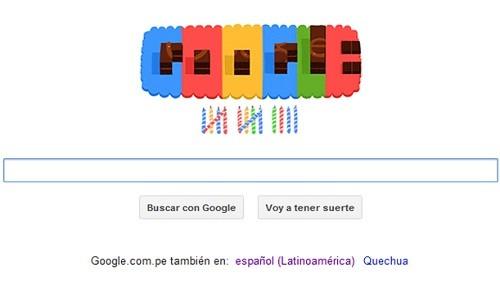 Google celebra 14 años de creación con un 'doodle' de cumpleaños
