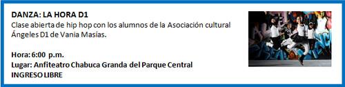 [Agenda Cultural de Miraflores] Danza: La Hora D1 - 12 de octubre de 2012