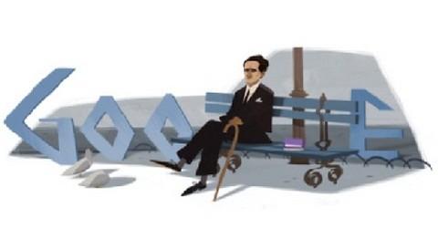 Google dedicó 'doodle' a César Vallejo por sus 120 años de nacimiento