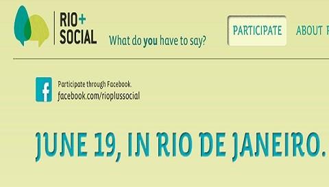 Rio+Social llevará la histórica conferencia de la ONU a un nivel global por medio del ambiente digital