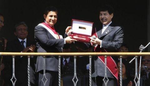 Ollanta Humala asiste a ceremonia de graduación de la Escuela Militar de Chorrillos