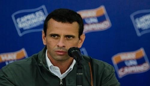 """Capriles asegura que el oficialismo busca """"liquidar"""" las gobernaciones"""