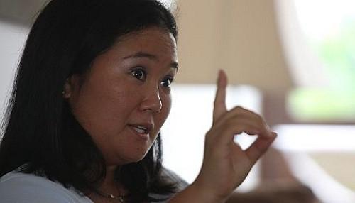 Keiko Fujimori arremetió contra Alejandro Toledo