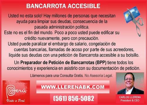 La Bancarrota Accesible: Los conocimientos y la experiencia de Carlos Llerena así lo garantiza