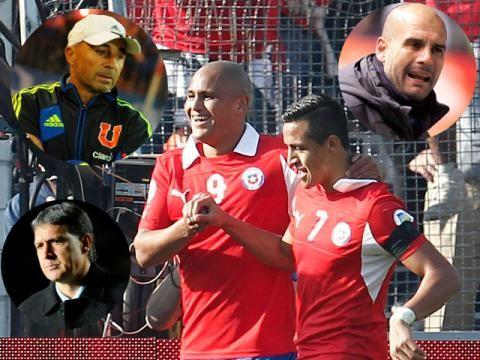 Pep Guardiola y Tata Martino se disputan el buzo técnico de la selección de Chile