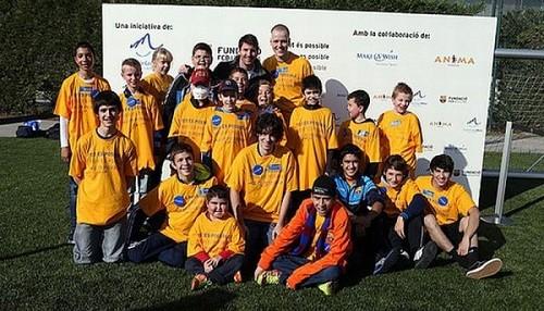 Lionel Messi recibió la visita de un grupo de niños con enfermedades graves