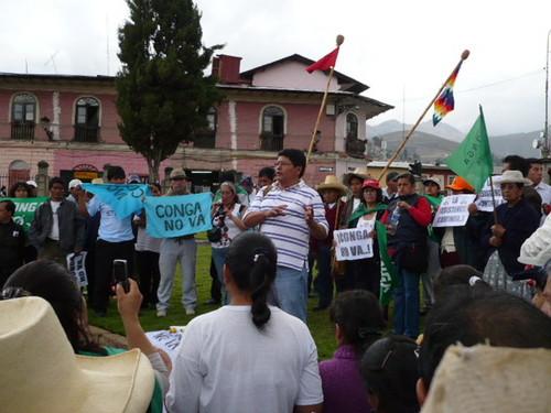 Anuncian paro Indefinido contra la minería en Cajamarca (Videos)