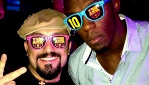 Usain Bolt se volvió hincha del Barcelona