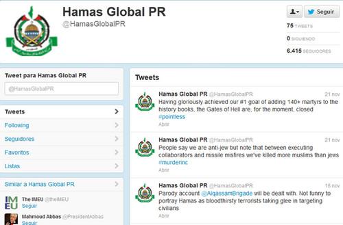 EE.UU. tendría pensado cerrar  la cuenta Twitter del grupo islámico  Hamás