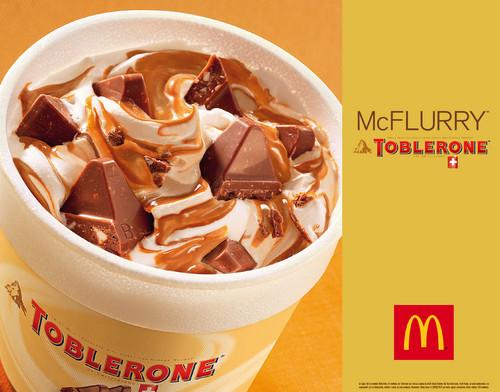 Toblerone se une a McFlurry para dar la bienvenida al verano
