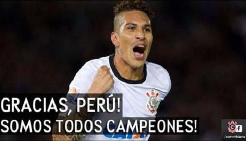 Corinthians: ¡Gracias Perú, somos todos campeones!