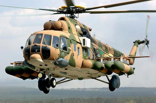 Rusia le entregó a Ghana cuatro helicópteros de combate Mi-171Sh