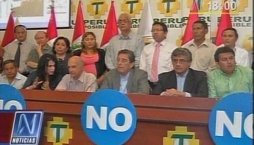 Perú Posible presentó equipo de trabajo para apoyar el 'No' a la revocatoria
