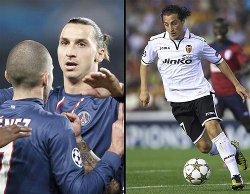 Champions League: el Valencia de Soldado busca la victoria ante el PSG de Ibrahimovic