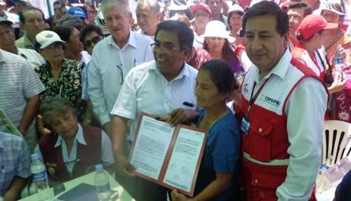 Lambayeque: Más de 1,600 familias accedieron a títulos de propiedad