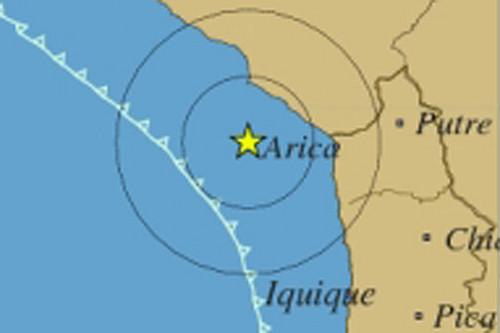 Sismo de 3,2 grados se registró en la región chilena de Arica