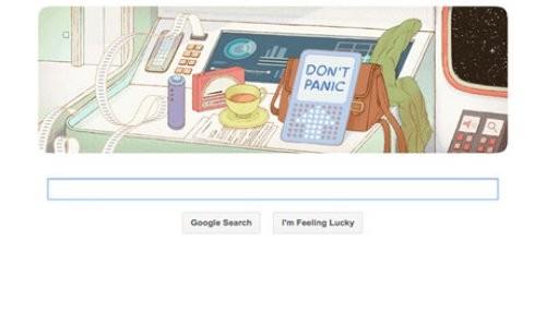 Google celebra el aniversario de Douglas Adams con un nuevo Doodle