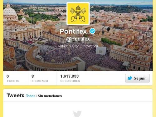 El Vaticano reactiva cuenta de Twitter del Papa tras nombramiento de Bergoglio