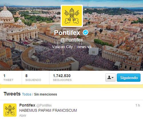 La cuenta en Twitter de la Ciudad del Vaticano se pone en marcha nuevamente