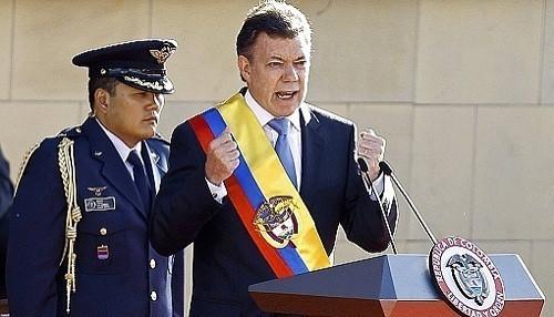 Juan Manuel Santos abandonará el cargo 'cuando haya paz en Colombia'