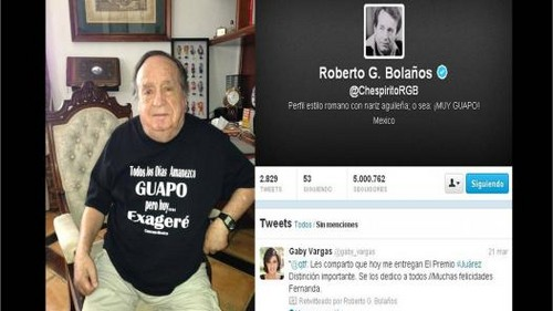 Chespirito celebró los 5 millones de seguidores en la red social Twitter