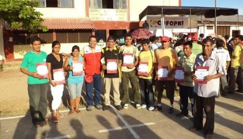 San Martin: Unas 1,980 familias ya tienen sus predios saneados