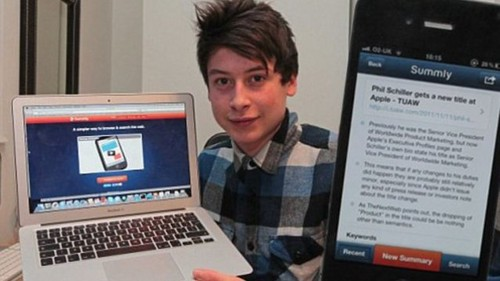Yahoo compra por US$ 30 millones una aplicación creada por un adolescente