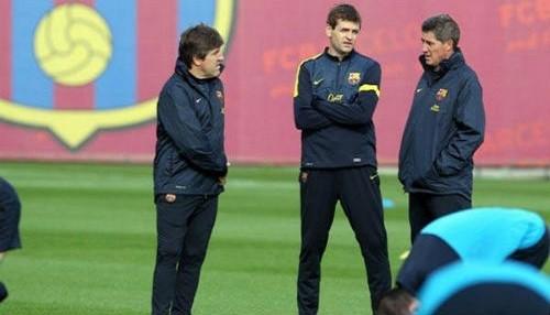 Tito Vilanova volvió a entrenar al Barcelona
