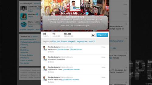 Venezuela: Hackean cuenta de Twitter de Nicolás Maduro