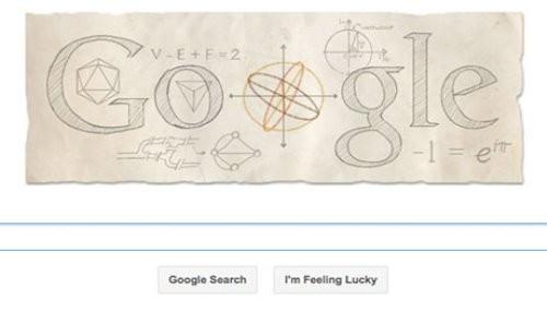 El matemático Leonhard Euler honrado con un Doodle de Google