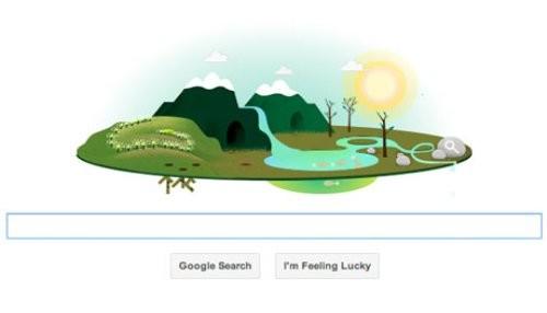 Google celebra el Día de la Tierra con nuevo doodle