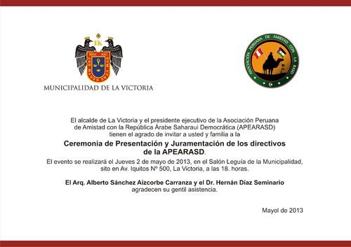 Invitación A La Ceremonia De Presentación Y Juramentación De