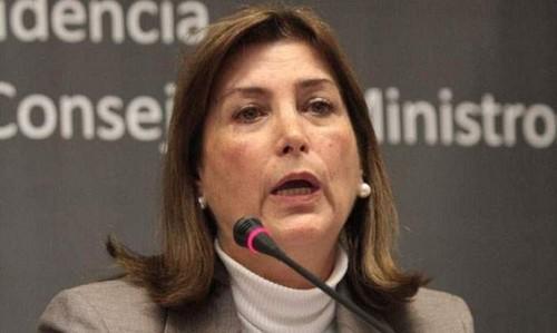 Ministra de Justicia Eda Rivas categorizó como un 'absurdo' las aseveraciones de Alberto Fujimori