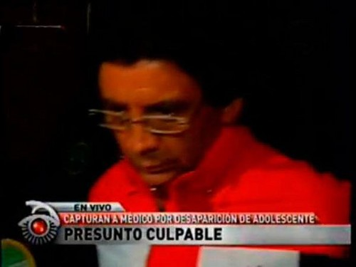 Adolescente desaparecida desde hace más de 20 días fue asesinada por el médico Ángel Valdivia Calderón