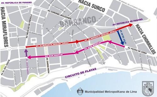 Municipalidad Metropolitana de Lima inicia el décimo ordenamiento vial en el distrito de Barranco con el apoyo de la comuna distrital