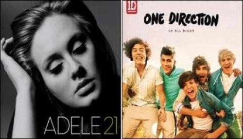 One Direction y Adele lideran las ventas mundiales de álbumes