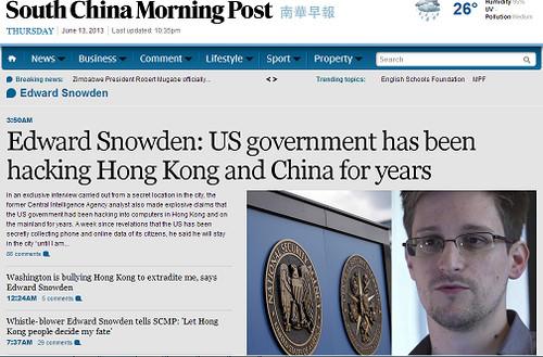 Edward Snowden: El gobierno de Estados Unidos ha estado hackeando a China y Hong Kong durante años