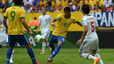 Brasil se impone a Japón por 2-0 en el primer partido de la Copa Confederaciones 2013