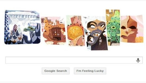 Google rinde honores con un nuevo doodle a Antonio Gaudí