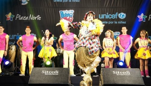 Se realiza megaconcierto por la infancia en Plaza Norte