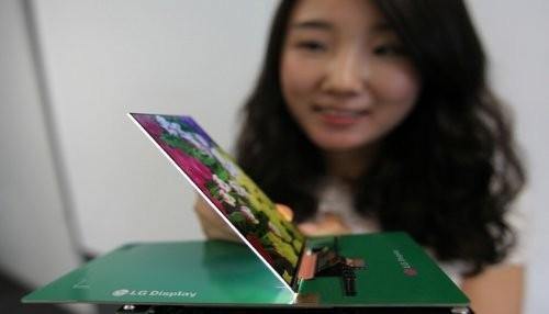 LG lanza su nueva pantalla ultra delgada para teléfonos inteligentes
