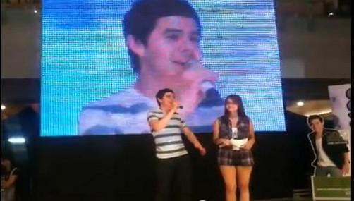 David Archuleta en el SM Megamall en Manila (video)