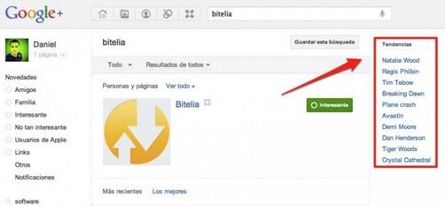 Trending Topics llegan a Google+