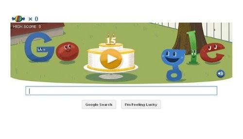 Google celebra sus 15 años en la red con un nuevo doodle