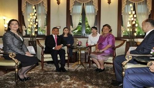 Presidente Ollanta Humala sostuvo encuentro con la princesa de Tailandia en Bangkok