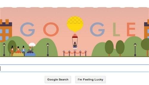 Google celebra el primer salto en paracaídas con un nuevo doodle