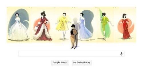 Edith Head honrada en Google por un Doodle que marca el aniversario 116 de su nacimiento
