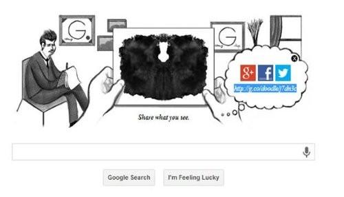 Google celebra el 129 cumpleaños de Hermann Rorschach con un nuevo doodle