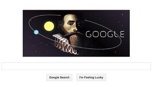 Johannes Kepler presente en el último doodle de Google